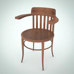 3d 3ds vintage wood chair teachers