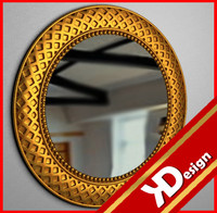 3d model golden mirror