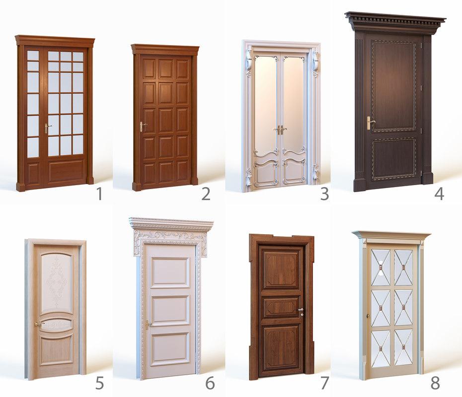 classic doors 3d max