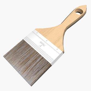 brush wood metal 3d model