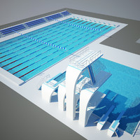 3d max swimming pool diving
