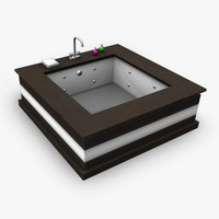modern bath 3d obj