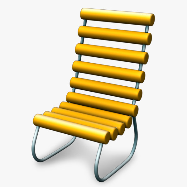 3d chair retro