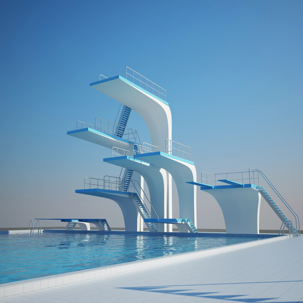 diving exterior interior 3d model