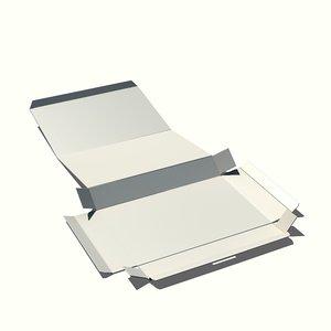3d model foldable paper box