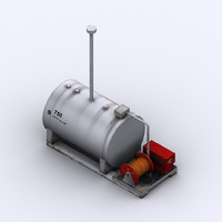 low-poly 750l fuel tank 3d 3ds