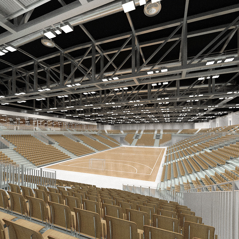 3d max indoor sports hall