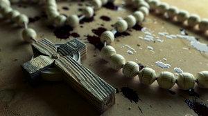 catholic rosary 3d obj