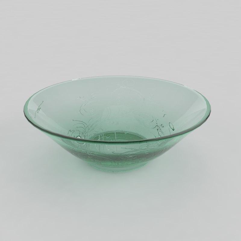 3d 3ds glass bowl