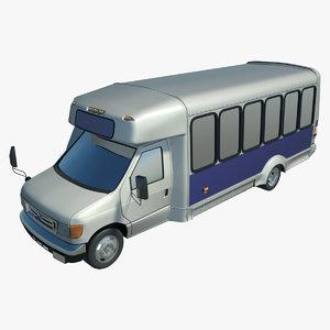 bus budget 3d model