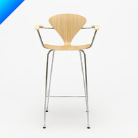 3d cherner stool arms norman