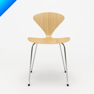 3ds max cherner stacking chair norman