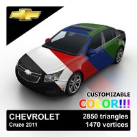 3d 2011 chevrolet cruze color