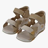 3dsmax children sandal