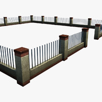 3d model of ready fence