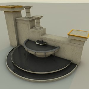 fountain 3d 3ds