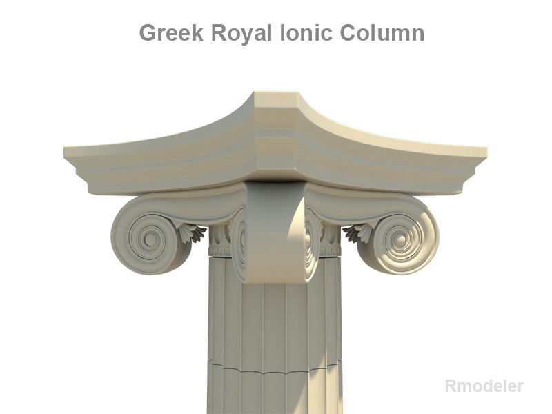 column greek ionic royal 3d 3ds