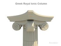 column greek ionic royal 3d 3ds