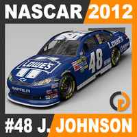 Nascar 2012 Car - Jimmie Johnson Chevrolet Impala #48