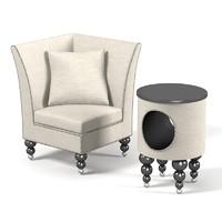 3d model lounge club set