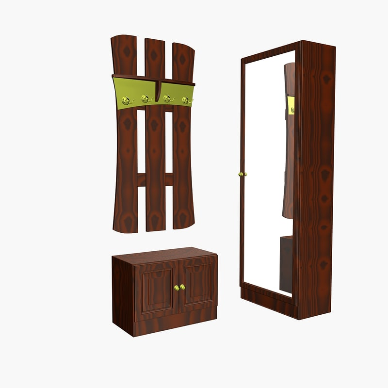 furniture mirror hatrack 3d ma
