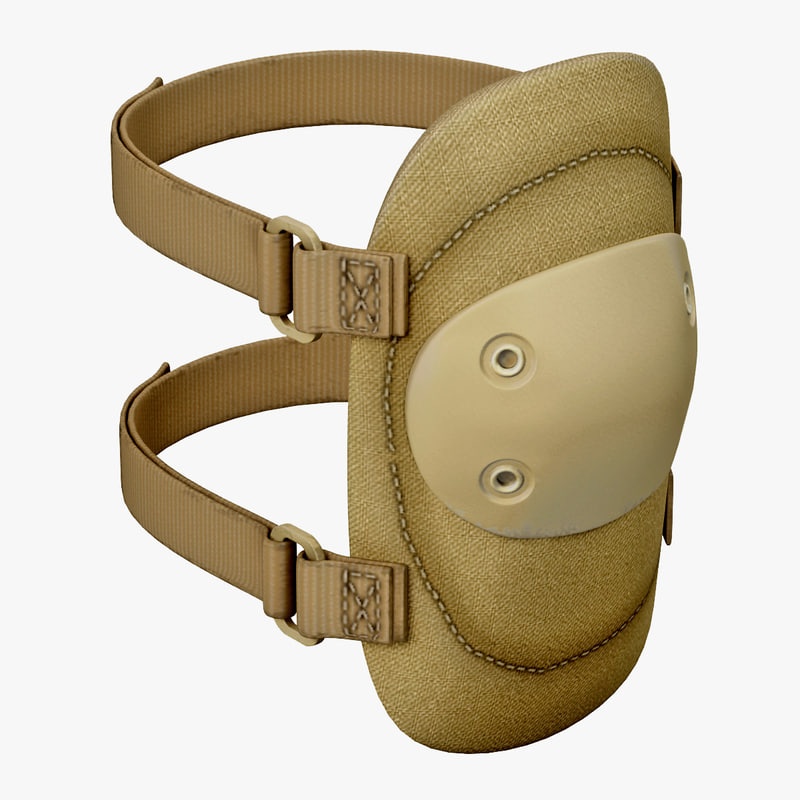 3d model military elbow pads