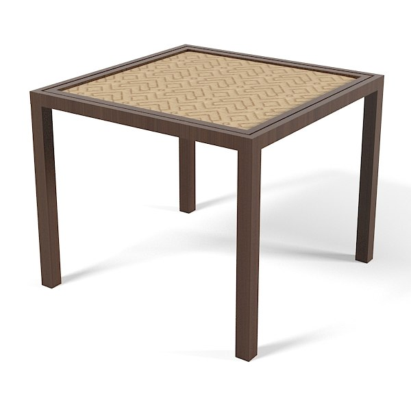 modern table 3d 3ds