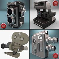 3d model of old cameras