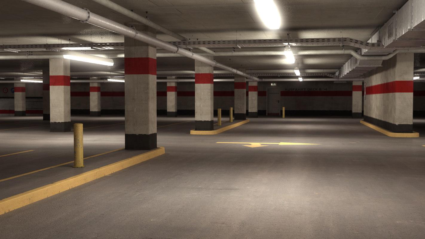 parking level 3d obj