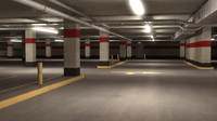 parking level 3d obj