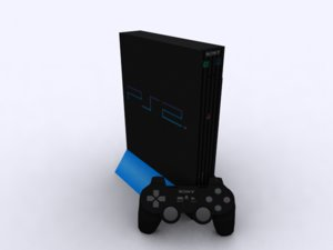 3d model sony playstation 2