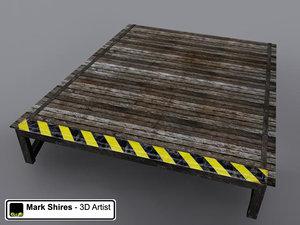 wooden stunt ramp x