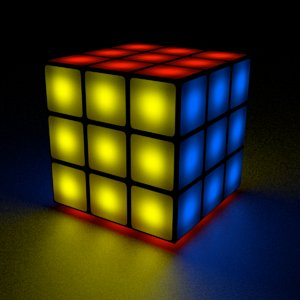 3x3 rubix cube 3d obj
