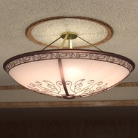 ornate ceiling light 3ds