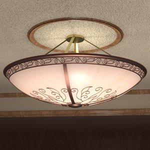 ornate ceiling light 3ds