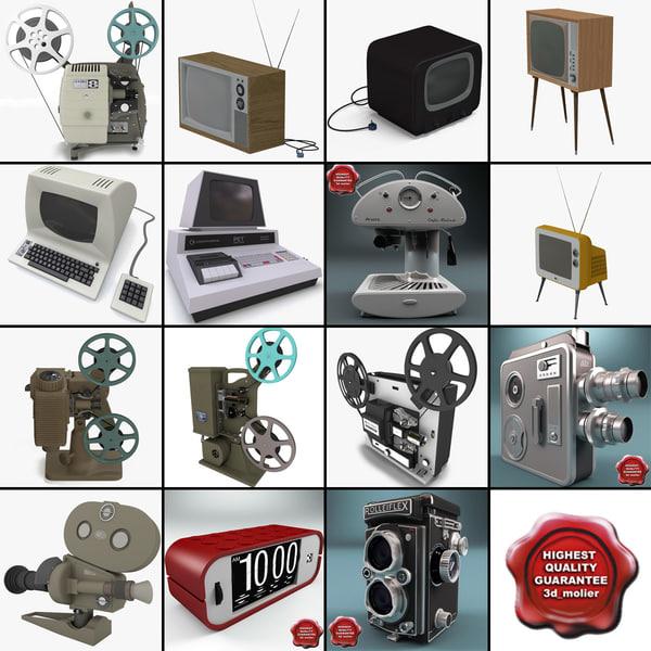 3d retro electronics v6 movie projector model