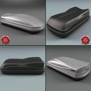 3d roof boxes model