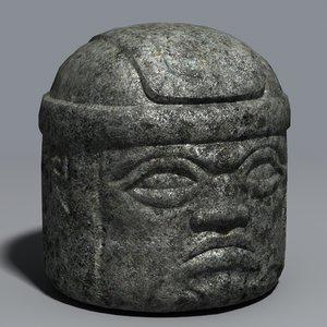 3ds olmec stone san