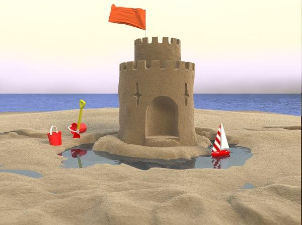 3d castle bucket