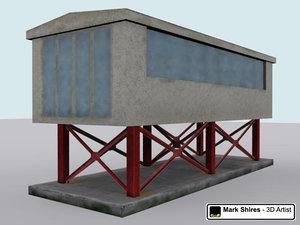 viewing platform portacabin building race 3d model