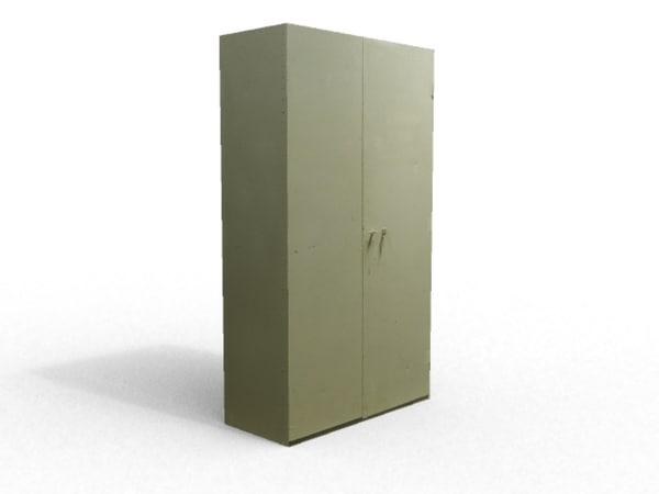 steel cabinet 3d fbx