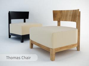 3d model thomas chair
