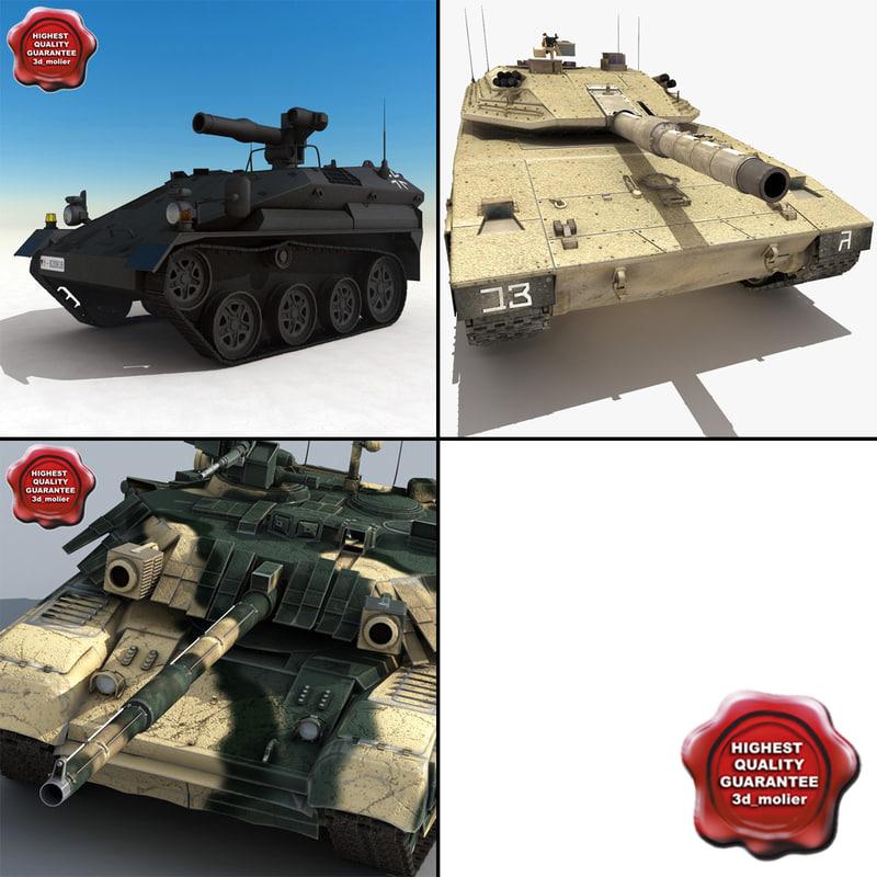 tanks v8 3d 3ds