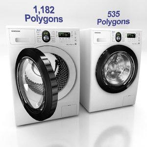 3d washing machine c model