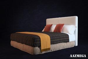 3d high-poly bed pillows