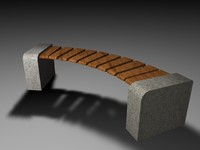 maya stone bench outdoor