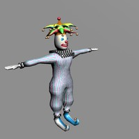3d rigged clown