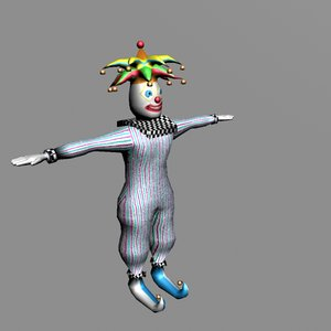 3d rigged clown