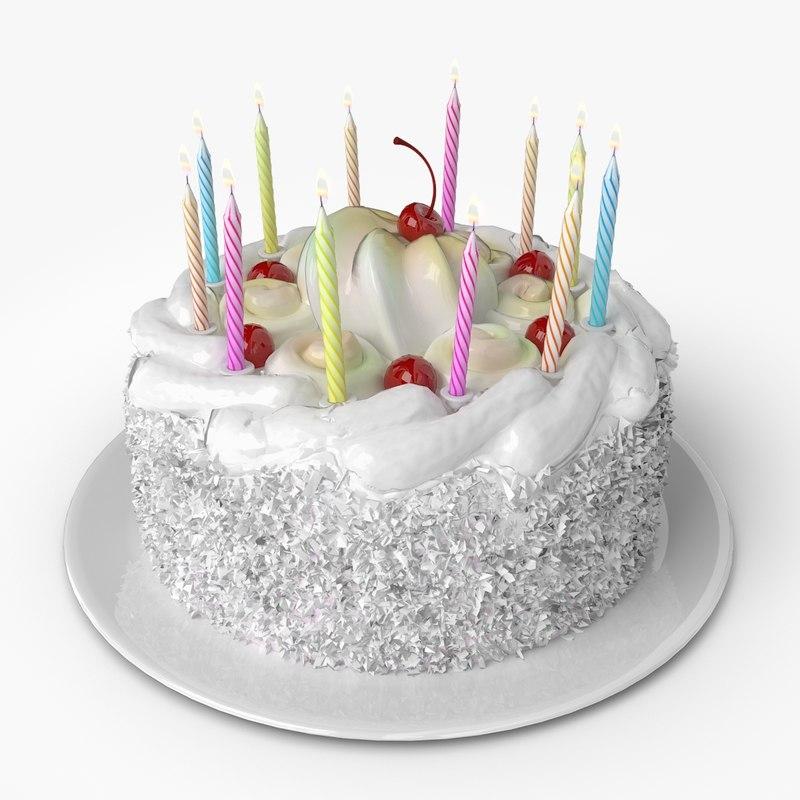 3d model of birthday cake