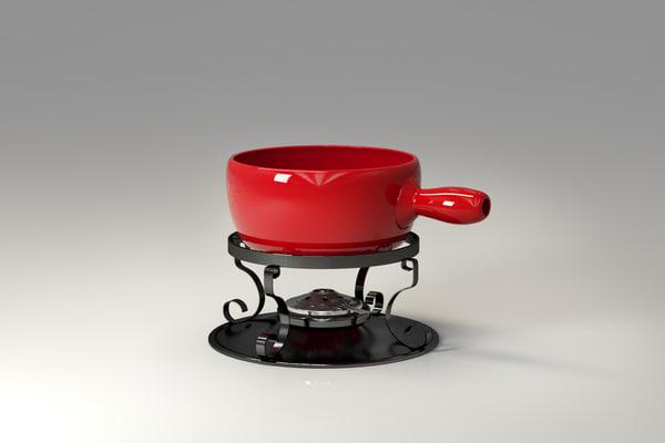 fondue caquelon 3d max